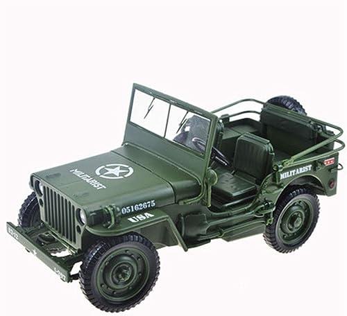 HBWJSH Modèle de Voiture en Alliage modèle de Voiture 1 18 Jeep (Noir Vert)