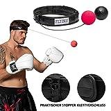 Flybee Boxen Training Reflex Fightball Punchball Headgear + 2 Bälle (2 Balls Included)