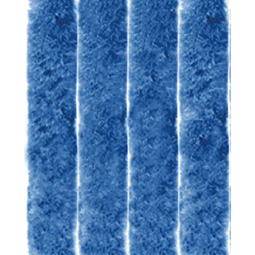 Arsvita flojel Cortina, poliéster, Unistreifen Blau, 56x185 cm
