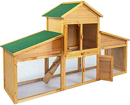 Casa verde pequeño animal cobertizos de alquitrán de madera de abeto y se puede usar para cubiertas conejos, hámsteres,Brown