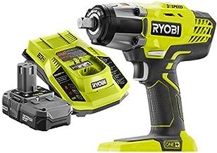 Ryobi P261 18V ONE+ 3-Speed ½ in. Cordless Impact Wrench Kit (Bundle)
