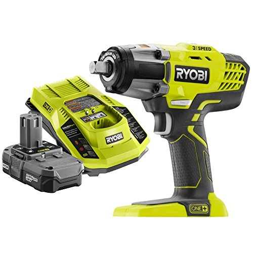 Ryobi P261 18 Volt One+ 3-Speed 1/2 Inch Cordless Impact Wrench