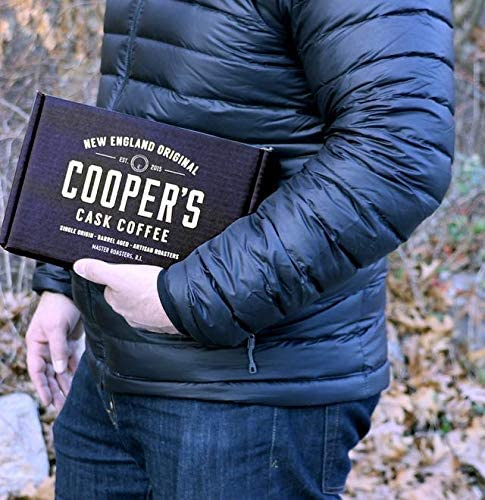 Coopers Cask Coffee Café 4 bolsa, tueste medio de origen Gourmet café, Rwanda, Etiopía negrita carnes asadas, 1Lb de frijol entero