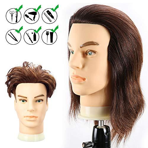 Top hair styling doll head human hair for 2020