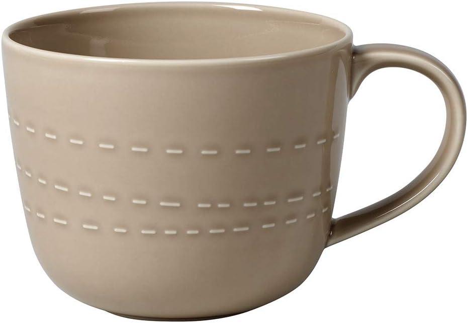 Villeroy & Boch it's my moment Mug Open : Almond, 17 oz, Premium Porcelain, Brown