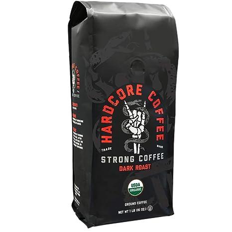 Hardcore Coffee Strong Dark Roasted Organic High Caffeine Cup Coffee