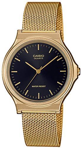 CASIO Unisex Erwachsene Analog Quarz Uhr mit Edelstahl Armband MQ-24MG-1EEF