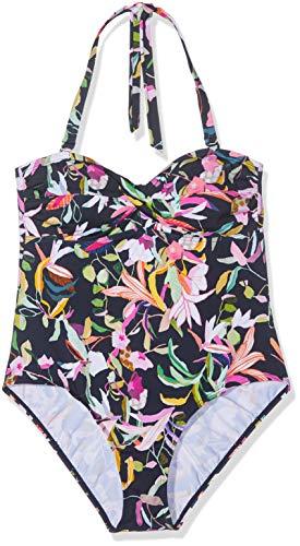 ESPRIT Damen Matira Beach Swimsuit Badeanzug, Blau (Navy 400), (Herstellergröße: 38)