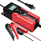 GOOLOO 6/12V 6A Smart Battery Charger and Maintainer Full Automatic 6-Stages Trickle Charging