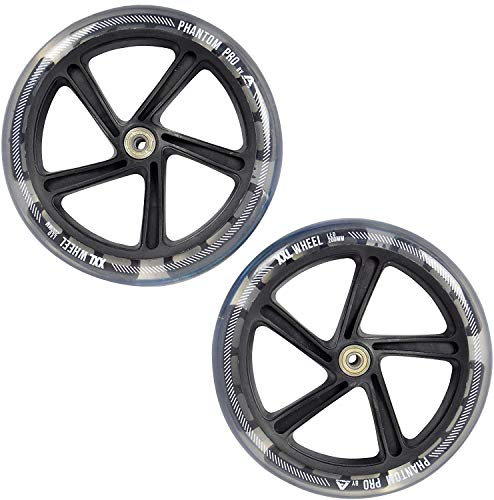 Apollo Ruedas de Recambio City Scooter LED 200mm Pro Wheels, rodamientos de Bolas ABEC 7, Ruedas de Recambio adecuadas para Big City Scooter Wheel