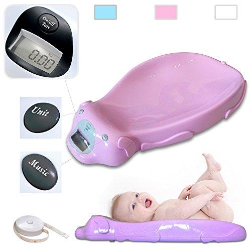 Todeco - Bilancia Per Bambini, Bilancia Digitale Per Bambini - Dimensione: 65,4 x 33,2 x 11,6 cm - Carico massimo: 20 kg - Rosa