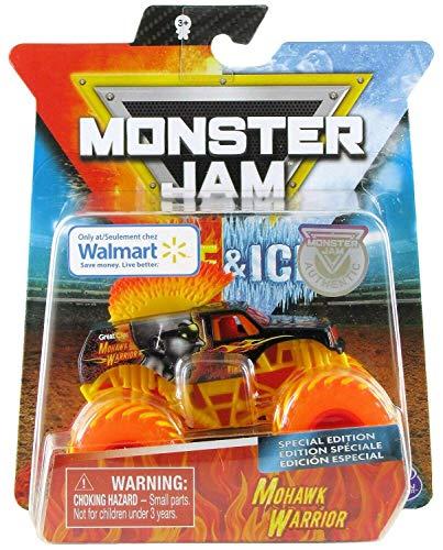 Monster Jam, Fire & Ice Mohawk Warrior Monster Truck, Die-Cast Vehicle, Walmart Exclusive, 1:64 Scale