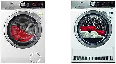 AEG L9FE86495 Waschmaschine/ProSteam - Auffrischfunktion/SoftWater - Wasservorenthärtung / 9 kg & T8DE86685 Wärmepumpentrockner/AbsoluteCare/Wolle-Seide-Outdoor trocknen / 8 kg