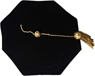 Doctoral Tam With Gold Bullion Tassel-8 Sides