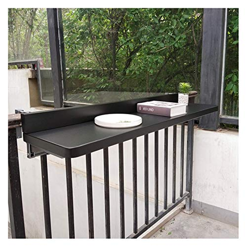 Mesa de pliegue hacia fuera, la barandilla del balcón para el hogar Mesa colgante de la tabla de la mesa de la mesa de...