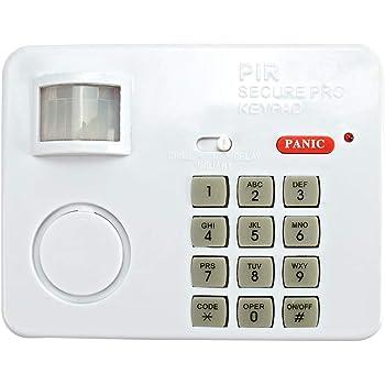 Hausalarm mit Bewegungsmelder | Alarmanlage Batterie mit Zahlencode | Idealer Einbruchsschutz | 100 dB Lautstärke | Home Secure Keypad Alarm