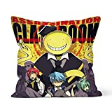 40×40cm Throw Pillow Covers -Anime Assassination Classroom-15.75×15.75 inches Pillowcase