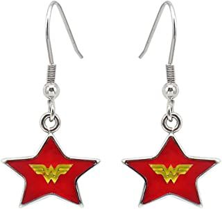 COOLYA HUA Wonder Woman Esrrings