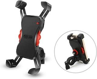 AUKI 自転車 スマホ ホルダー バイク 自動ロックデザイン 振れ止め 脱落防止 GPSナビ 携帯 固定用 マウント スタンド 防水 に適用 iPhone/android 多機種対応 360度回転 脱着簡単 優れた耐久性 強力な保護 自転車もオートバイも適用