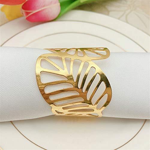 Ajuste de mesa ideal anillos de servilleta Conjunto de anillos de servilleta de 12, titular de la hebilla de la servilleta de la cena, reuniones creativas de la fiesta de la boda Decoración de la mesa