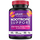 Nootropic Brain Supplement for Focus, Energy, Memory & Clarity Booster   30 Capsules Fast Absorption Brain Vitamins for Adults – Focus Factor Pills with Ginkgo Biloba, St Johns Wort, Bacopa Monnieri