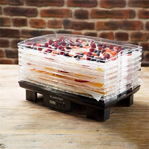 Klarstein Bananarama - déshydrateur, robot déshydrateur, déshydrateur à viande et fruits, 6 niveaux, empilable, 550 w...