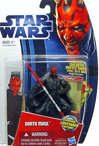 'Darth Maul Sith Lord con 'Spinning Lightsaber Action MH05Movie Heroes Star Wars da Hasbro