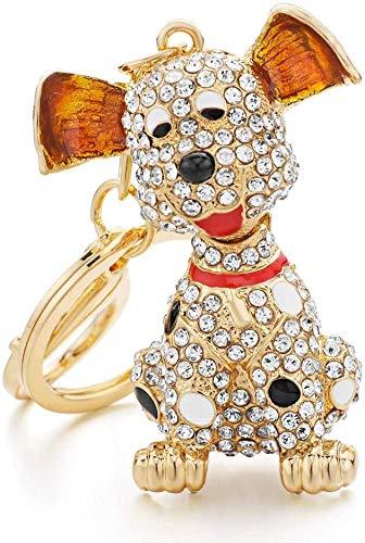 LLZYZJ Car Key Pendant Dalmatian Dog Crystal HandBag Pendant Keyrings Keychains Rhinestone Keychains Holder Women