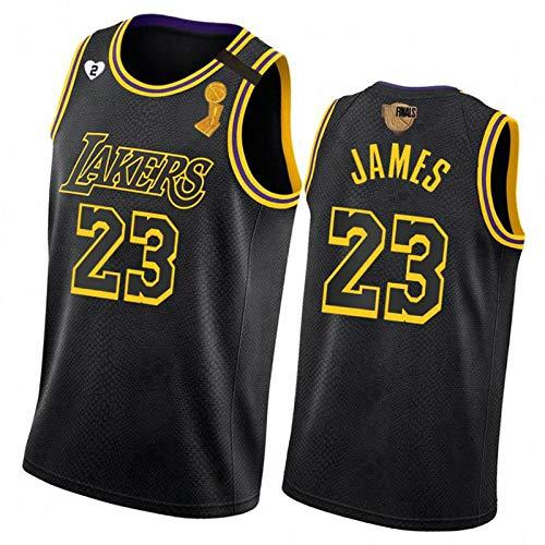 XGMJ James Basketball Jersey Lakers 23# - Chaleco para hombre, con bordado serpentinas, ideal para exteriores, color negro, talla S