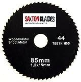 Saxton, lama in HSS per sega circolare Worx Worxsaw Bosch Makita Ryobi ecc, 85mm, 44 denti