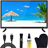 ATYME 24-Inch 720p 60Hz LED HD TV (240AH5HD) Lightweight Slim Built-in with HDMI, USB, VGA, High Resolution Bundle with Circuit City 6-Foot Ultra HD 4K HDMI Cable & Hercules LCD Screen Kit