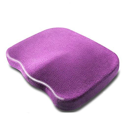 JONJUMP Almohada ortopédica de espuma viscoelástica para silla cojín de masaje de oficina almohadas de cadera coxis alivio del dolor asiento