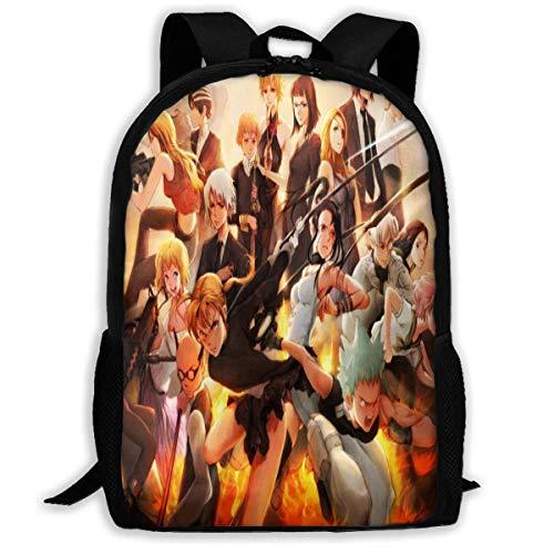 Anime Soul Eater Laptop Bag Printed Daypack Shoulder Bag Bookbag Children's Backpack Boys for Women Men,Size 43X28X16Cm