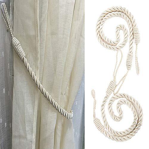 Juego de 2 abrazaderas de cuerda gruesa para sujetar cortinas y decorar ventanas, 68,6 cm