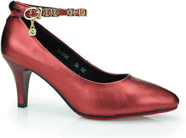 BYLE Leder Sandalen Riemchen Samba Modern Jazz Dance Schuhe Latin Dance Schuhe Frauen Erwachsener mit Leder Weich Unten 6,5 cm  | Louis, ausführlich
