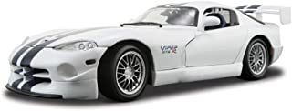 Maisto 1997 Dodge Viper GT2, White w/ Stripes Special Edition 31845 - 1/18 Scale Diecast Model Toy Car