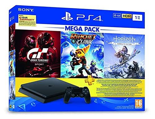 PS4 1TB slim/Horizon Zero Dawn CE/GT Sport II/Ratchet &Clank/PS+3M