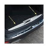 HTSM Protección Maletero Tronco Kick Plates Placa De Rodadura Sill Acero Inoxidable Coche Protector Trasero Protector De Parachoques Cubierta De Ajuste para Peugeot 5008 2017 2018 2019