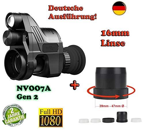 Maximtac Nachtsichtgerät Pard NV007A German-Edition mit 16mm Linse, bis 200m Sicht. BRD + Universal Schnell-Adapter