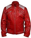 MSHC Men's Michael Beat It Faux Leather Jacket Large Red