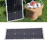 Annjom Tablero de Carga Solar, generador de energía Solar portátil...