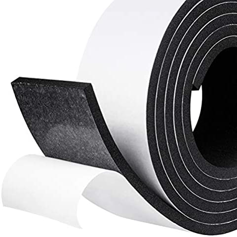 Self Adhesive Weather Stripping Insulation Soundproofing Closed Cell Foam Seal High Density Foam Tape 9//16 W x 1//8 T