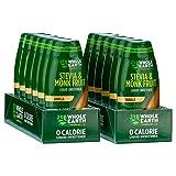 Whole Earth Sweetener Co. Stevia & Monk Fruit Liquid Sweetener, Vanilla, 1.62 Ounce Squeeze Bottle, 1.62 Fl Oz (Pack of 12)