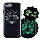 Wilma Phone Case - Funda para teléfono móvil Compatible con iPhone 6/6S/7/8, diseño de Tigre, Brilla en la Oscuridad, Color Negro