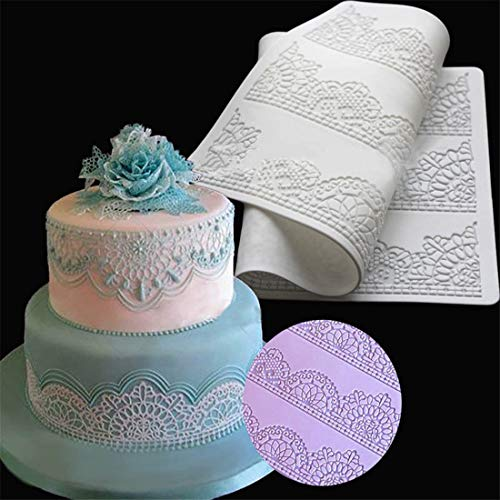 Yingwei Kuchen Spitze Matte Prägematte Strukturmatte Effekt Fondant Spitzemuster Silikon Kuchen Matte
