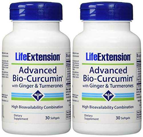 Life Extension Advanced Bio-curcumin with Ginger and Turmerones 30...