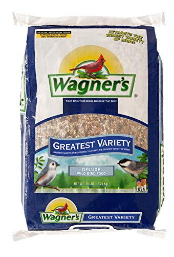 Wagner's 62059 Greatest Variety Blend Wild Bird Food, 16-Pound Bag,BLACK