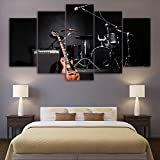 HIMFL 5 Paneles Lona HD Print M/úsica de Lil Peep Grande P/óster Pinturas murales para casa Decoraciones Decoraci/ón de Pared