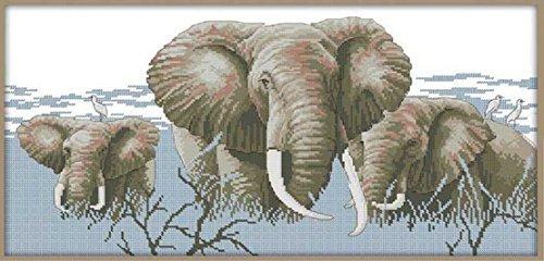 Happy Forever Cross Stitch,Animals, holy elephant