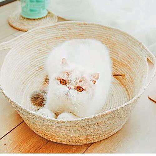VSander Cat Litter Rattan Summer Season Universal Cat Pot Cat Nido Dormido Cat Scratch Board Toy Cerrado Estera De Verano